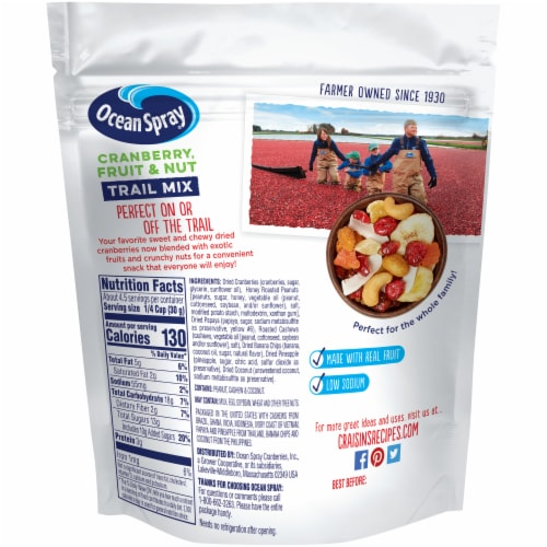 Ocean Spray Cranberry Fruit & Nut Trail Mix Perspective: back