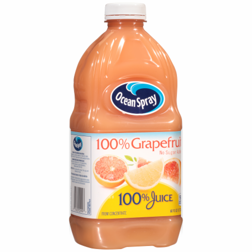 Ocean Spray No Sugar Added 100% Grapefruit Juice Perspective: back