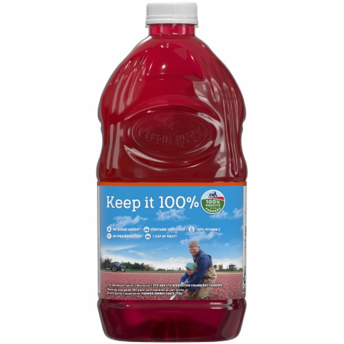 Ocean Spray Cranberry Mango Juice Perspective: back