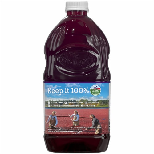 Ocean Spray Cranberry Concord Grape Juice Perspective: back