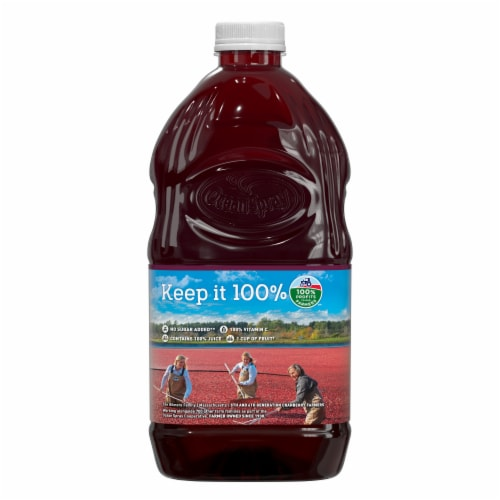 Ocean Spray Cranberry Pomegranate Juice Perspective: back