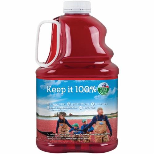 Ocean Spray 100% Cranberry Juice Perspective: back