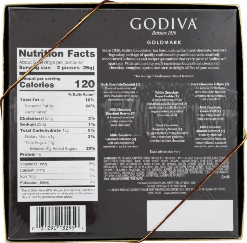 Godiva Goldmark Assorted Chocolate Creations Perspective: back
