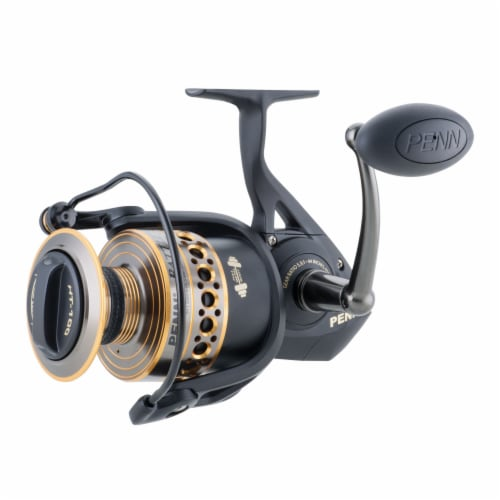 Penn BTLII8000102H Battle II HT100 Saltwater Spinning Fishing Reel and Rod Combo Perspective: back