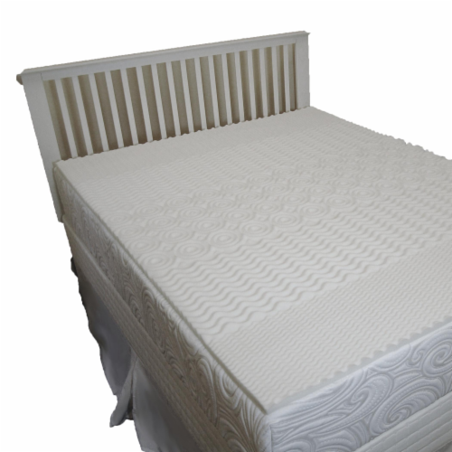 Carpenter Home Isotonic® 5-Zone Conventional Foam Mattress Topper - White Perspective: back