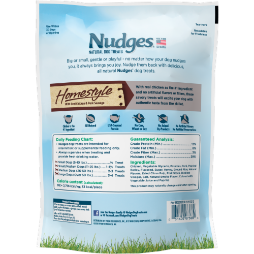Nudges Homestyle Chicken and Pork Natural Dog Treats Perspective: back