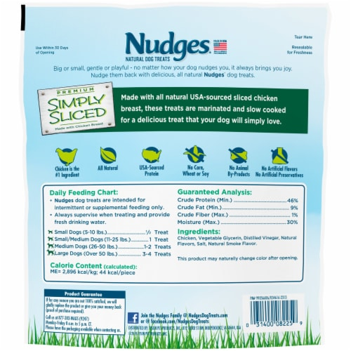 Nudges® Simply Sliced Chicken Breast Natural Dog Treats Perspective: back