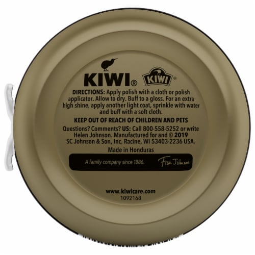 Kiwi® Shoe Polish Paste - Black Perspective: back