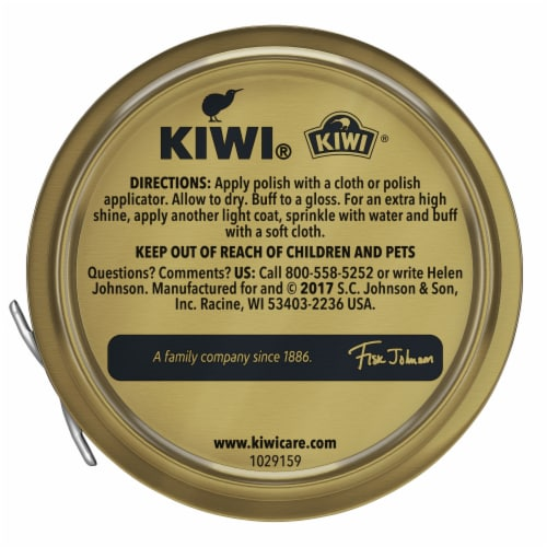 Kiwi Parade Gloss Shoe Polish - Black Perspective: back