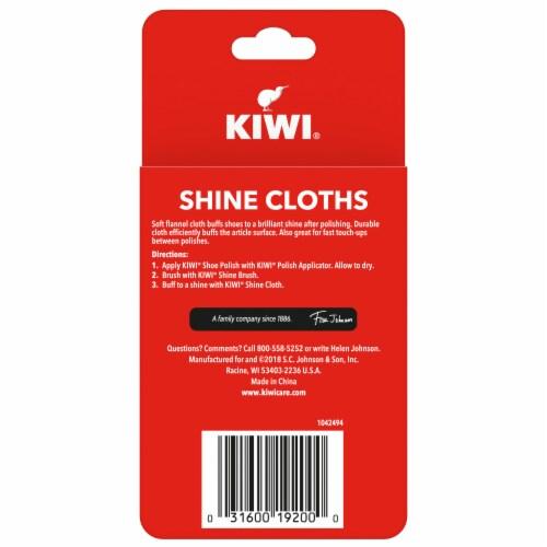 Kiwi Shoe Shine Cloths 2 Count Perspective: back