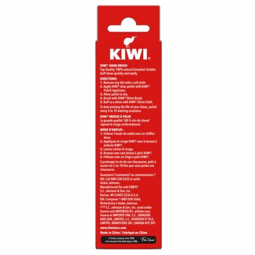 Kiwi Horse Hair Shoe Shine Brush - Natural Perspective: back