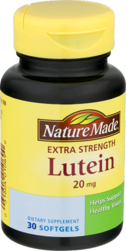 Nature Made Lutein 20 mg Softgels Perspective: back