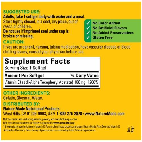 Nature Made® Vitamin E Softgels 180mg (Packaging May Vary) Perspective: back