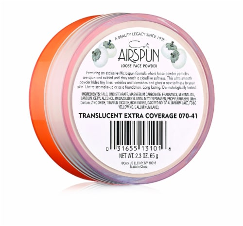 Airspun Original Formula 070-41 Loose Face Powder Perspective: back