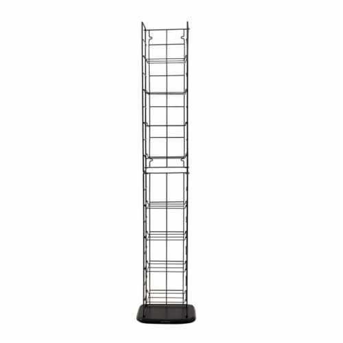 Atlantic Inc 53  8 Adjustable Shelf Media Rack in Black Perspective: back