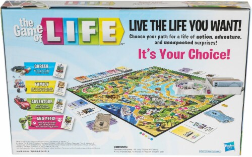 Hasbro The Game of Life Perspective: back