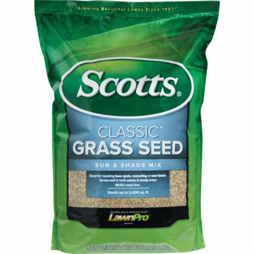 Scotts Classic 3 Lb. 1200 Sq. Ft. Coverage Sun & Shade Grass Seed 17183 Perspective: back
