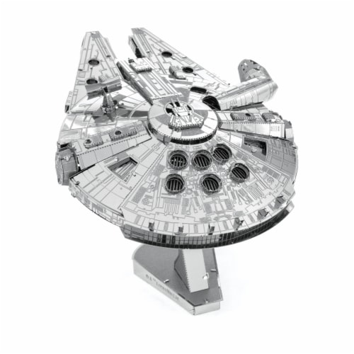 Fascinations ICONX 3D Large Millennium Falcon Metal Model Kit Perspective: back