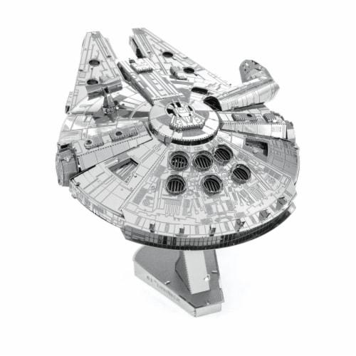 Fascinations ICONX 3D Large Millennium Falcon Metal Model Kit Perspective: back