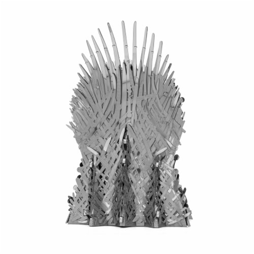 Fascinations Metal Earth ICONX 3D Metal Model Kit Game of Thrones Iron Throne Perspective: back