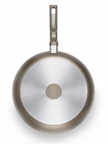 T-fal Ceramic Chef Frying Pan - Champagne Perspective: back