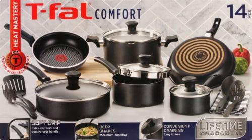 T-fal Comfort Nonstick Cookware Set - Black Perspective: back