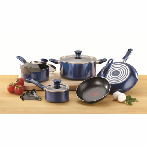 T-fal Excite Non-stick Cookware Set - Blue Perspective: back