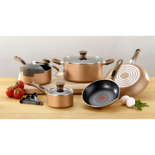 T-fal Excite Non-stick Cookware Set - Bronze Perspective: back
