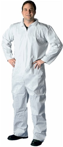 Buffalo Disposable Polypro Coveralls - White Perspective: back