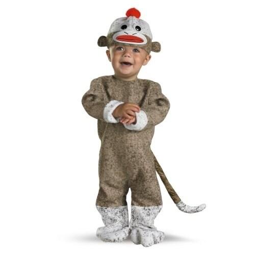 Sock Monkey Costume, Baby Perspective: back
