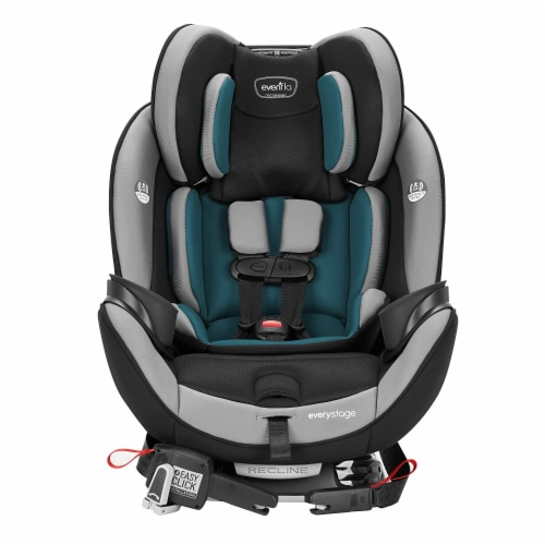 Evenflo EveryStage DLX Rear-Facing Convertible Car and Booster Seat, Reef Blue Perspective: back