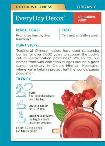 Traditionals Medicinals EveryDay Detox Tea Bags Perspective: back