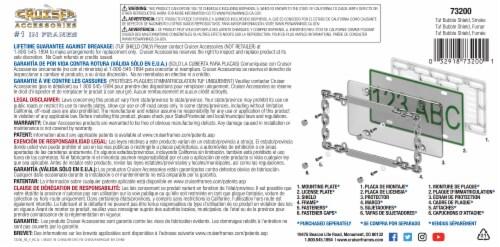 Cruiser Accessories Tuf Bubble License Plate Shield - Smoke Perspective: back