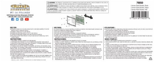 Cruiser Accesories License Plate Bracket - Black Perspective: back
