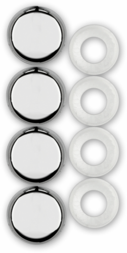 Cruiser Accessories Fastener Caps - Chrome Perspective: back