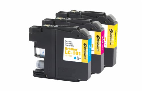 Dataproducts Remanufactured Inkjet Cartridges for Brother LC-101 Multi-Pack Perspective: back