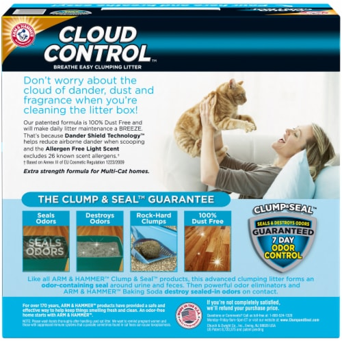 Arm & Hammer Cloud Control Multi-Cat Litter Perspective: back