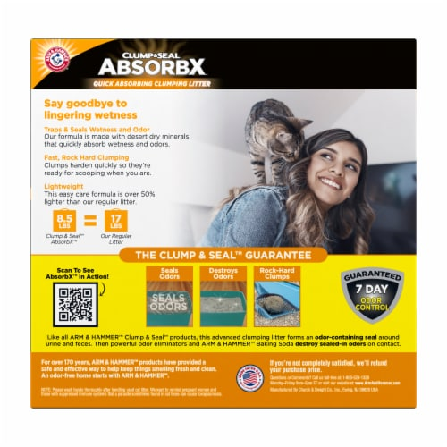 Arm & Hammer™ Clump & Seal AbsorbX Multi-Cat Litter Perspective: back