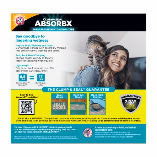 Arm & Hammer™ Clump & Seal AbsorbX Multi-Cat Unscented Litter Perspective: back