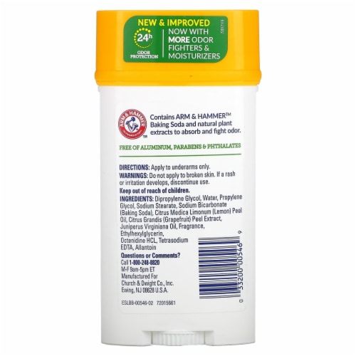 Arm & Hammer Essentials Clean Deodorant Perspective: back