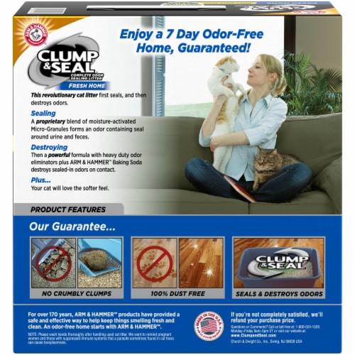 Arm & Hammer Clump & Seal Fresh Home Cat Litter Perspective: back