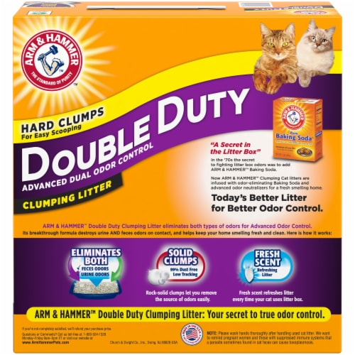 Arm & Hammer Double Duty Cat Clumping Litter Perspective: back