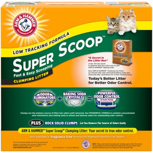 Arm & Hammer Super Scoop Clumping Cat Litter Perspective: back