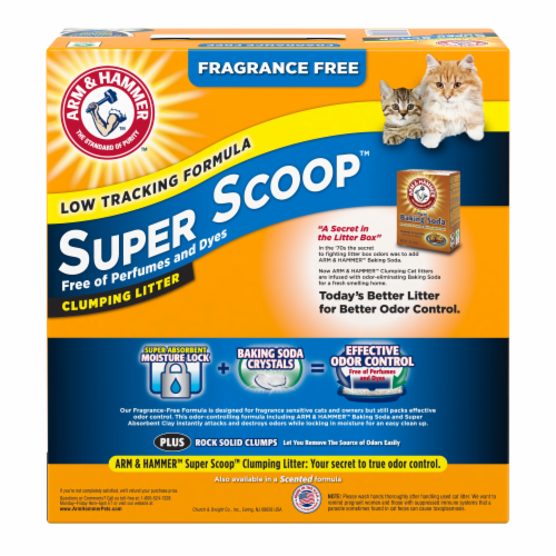 Arm & Hammer Super Scoop Fragrance Free Clumping Cat Litter Perspective: back