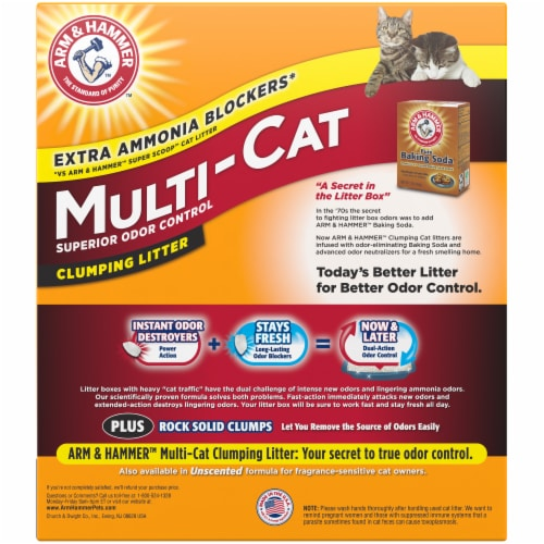 Arm & Hammer Multi-Cat Clumping Litter Perspective: back