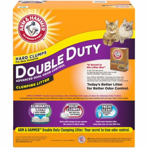 Arm & Hammer Double Duty Advanced Dual Odor Control Scented Clumping Cat Litter Perspective: back