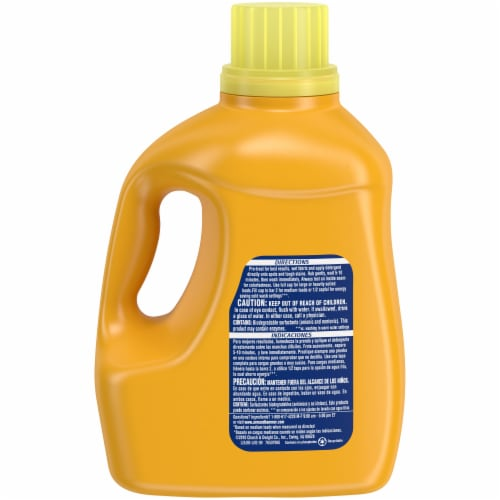 Arm & Hammer Plus Oxi Clean Stain Fighters Clean Meadow Scent Liquid Laundry Detergent Perspective: back