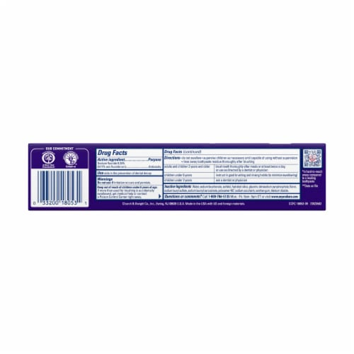 Arm & Hammer CompleteCare Fresh Mint Fluoride Anticavity Toothpaste Perspective: back