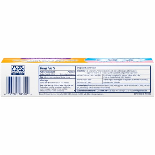 Arm & Hammer DentalCare Pure Mint Toothpaste Perspective: back
