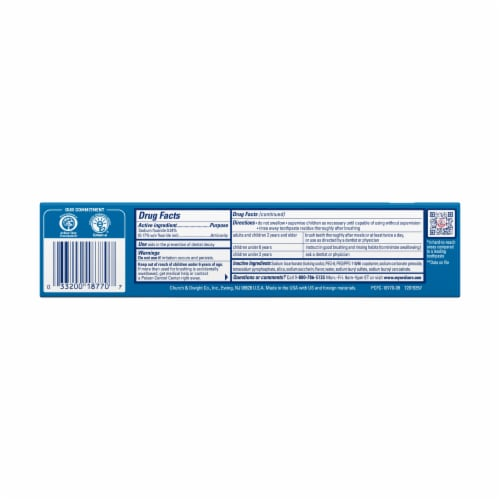 Arm & Hammer PeroxiCare Deep Clean Mint Toothpaste Perspective: back